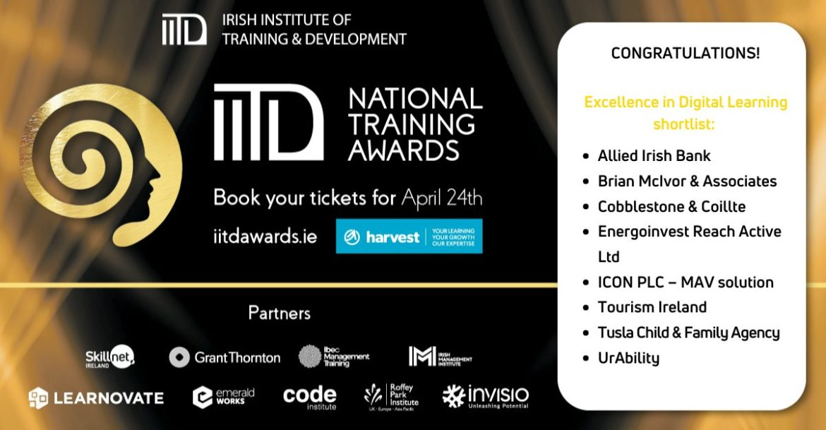 Cobblestone learning shortlisted for the IITD Awards